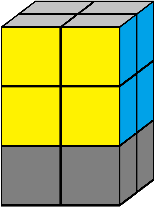 Down face of the 2x2x3 tower cube