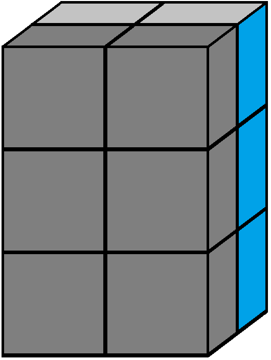 Front face of the 2x2x3 tower cube