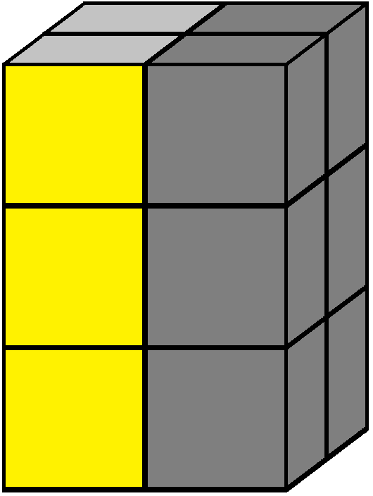 Right face of the 2x2x3 tower cube