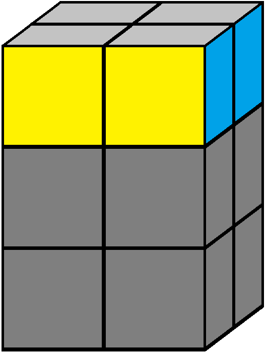 Aim of step 2 of how to solve the 2x2x3 tower cube