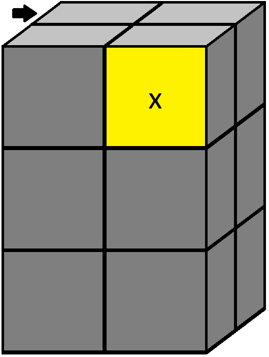 Algorithm of step 2 of how to solve the 2x2x3 tower cube