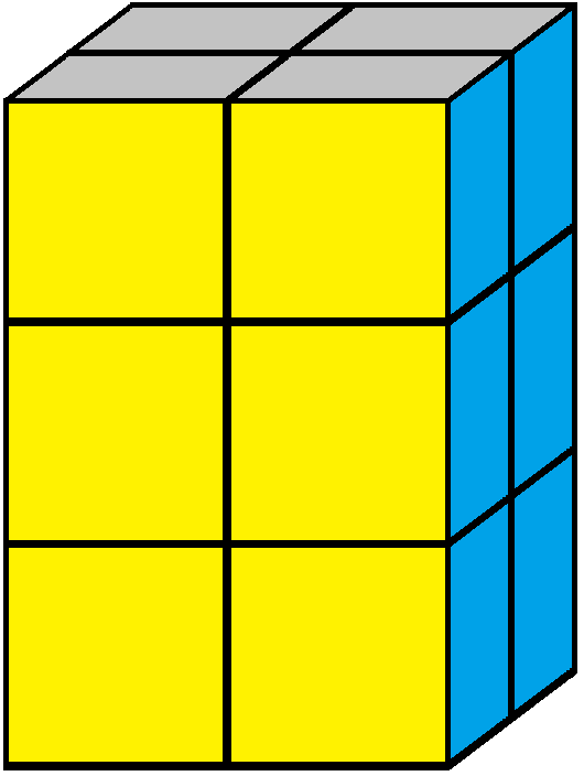 Aim of step 3 of how to solve the 2x2x3 tower cube