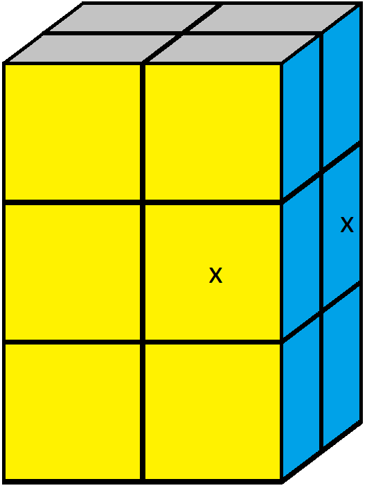 Algorithm of step 3 of how to solve the 2x2x3 tower cube