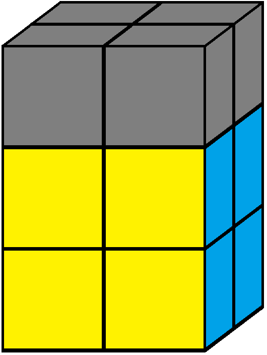Up face of the 2x2x3 tower cube