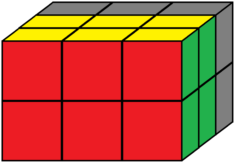 Back face of the Domino Cube