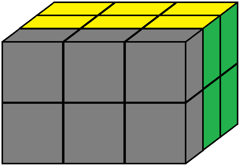 Front face of the Domino Cube