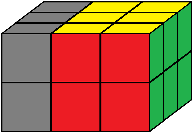Left face of the Domino Cube