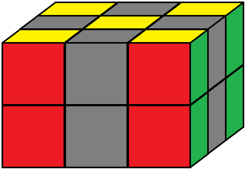 Aim of step 1 of how to solve the Domino cube