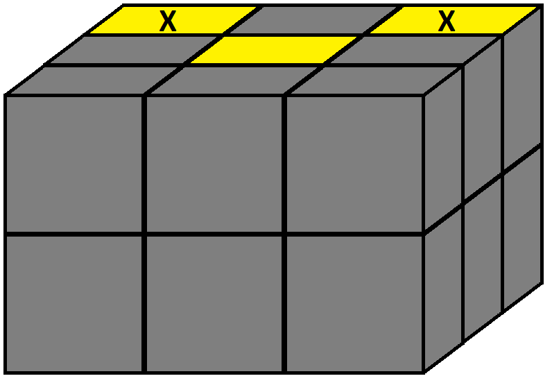Algorithm of step 1 of how to solve the Domino cube