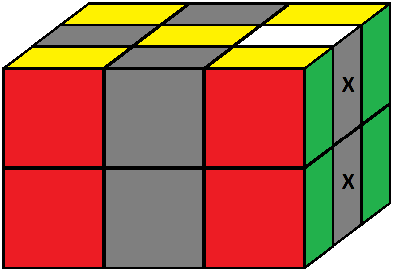 Algorithm of step 2 of how to solve the Domino cube