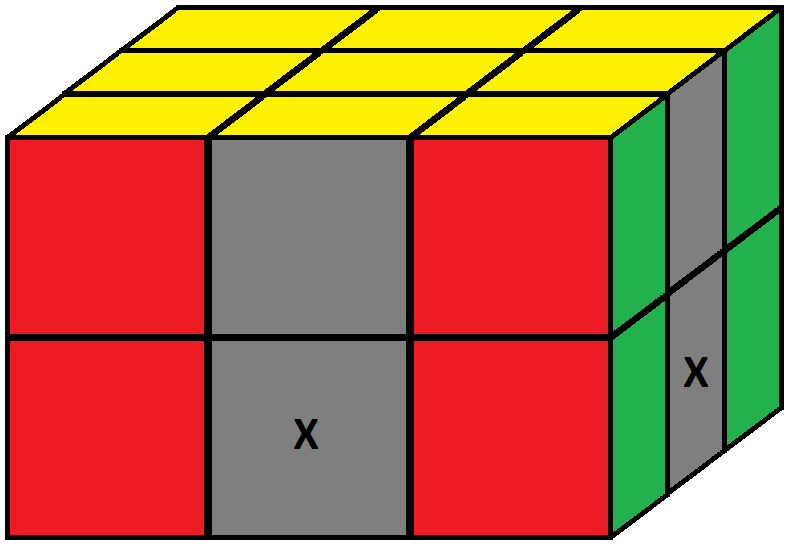 Algorithm 1/2 of step 3 of how to solve the Domino cube