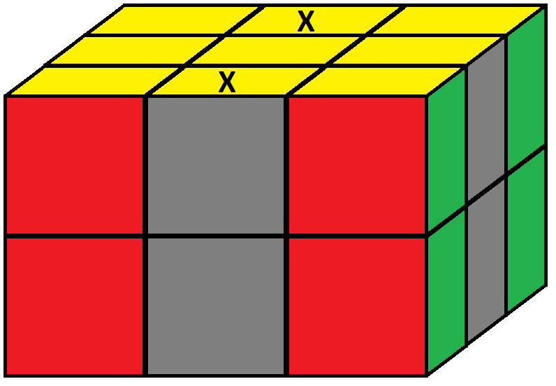 Algorithm 2/2 of step 3 of how to solve the Domino cube