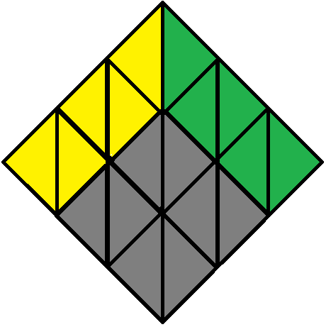 Front face of the Pyraminx