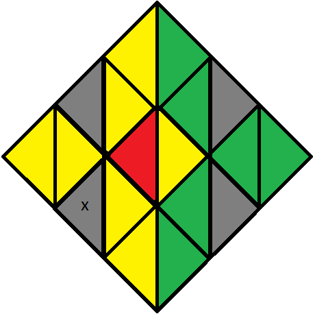 Algorithm 1/3 of step 2 of how to solve the Pyraminx