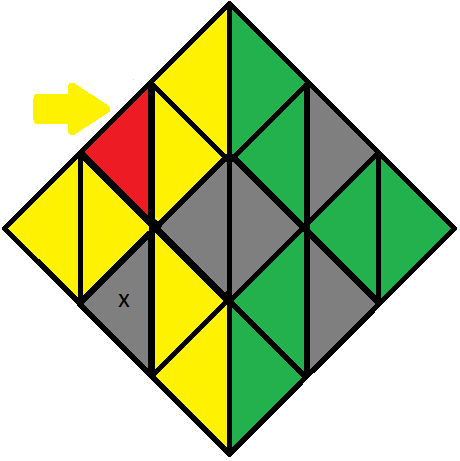 Algorithm 2/3 of step 2 of how to solve the Pyraminx