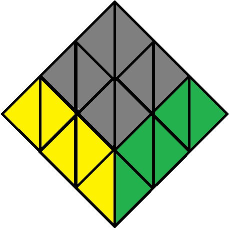Up face of the Pyraminx