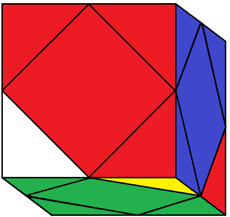 Result of BLD turn of the Skewb