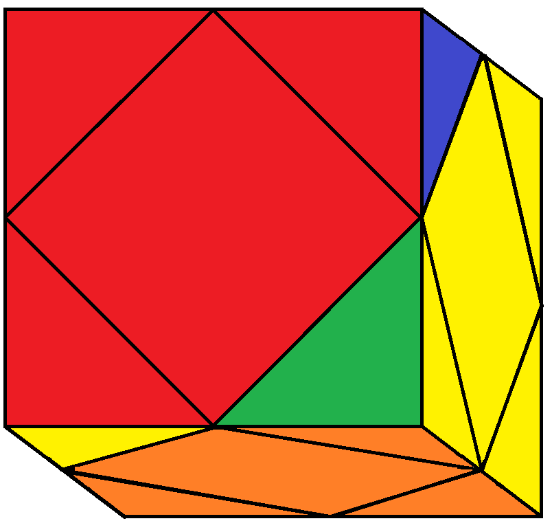 Result of BRD turn of the Skewb