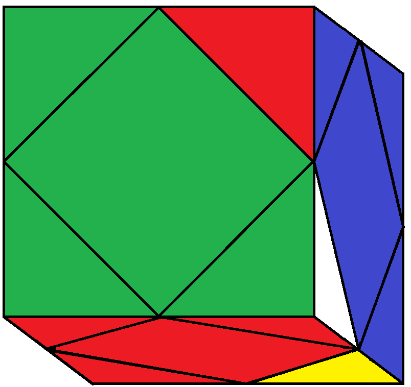 Result of FRD turn of the Skewb