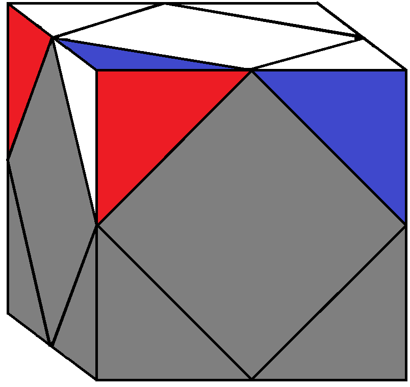 Algorithm 1/2 of step 1 of how to solve the Skewb