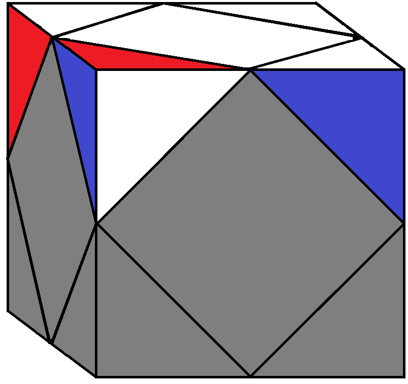 Algorithm 2/2 of step 1 of how to solve the Skewb