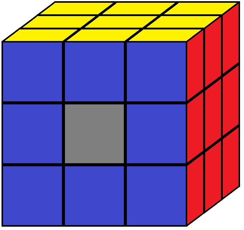 One centre piece of the Rubik's cube