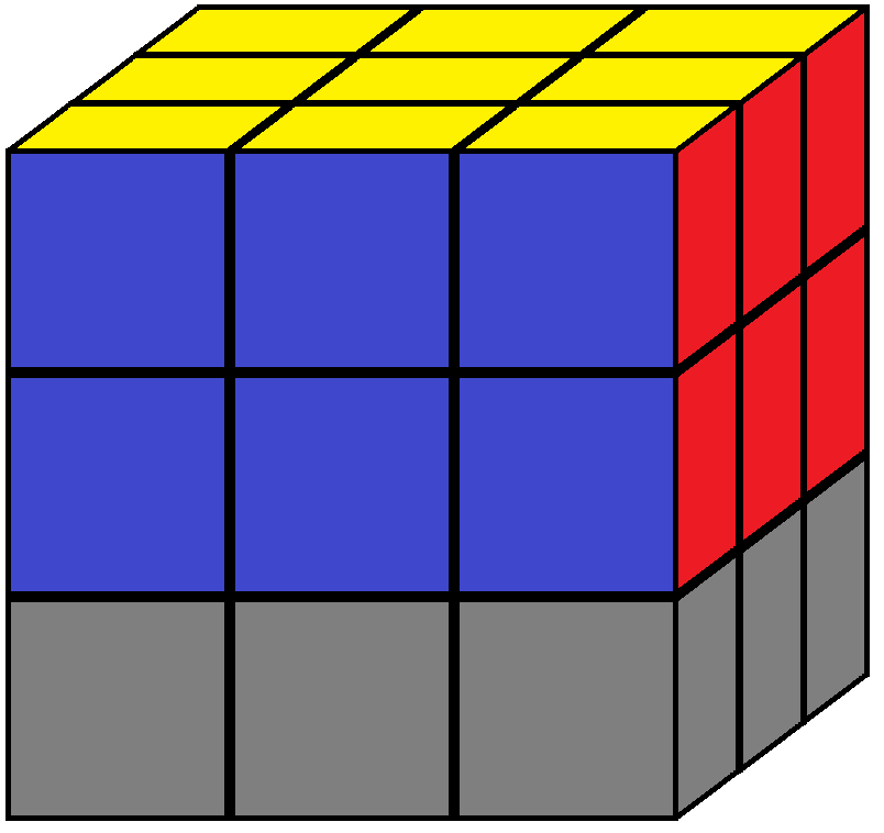 Down face of the Rubik's cube