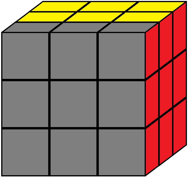 Front face of the Rubik's cube