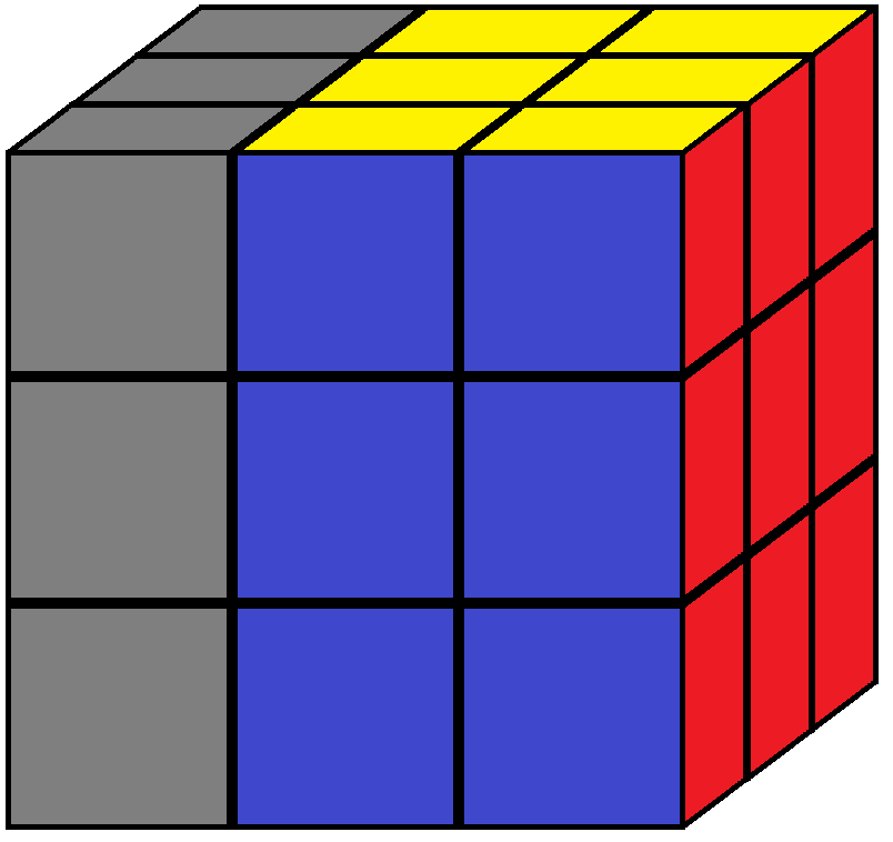 Left face of the Rubik's cube