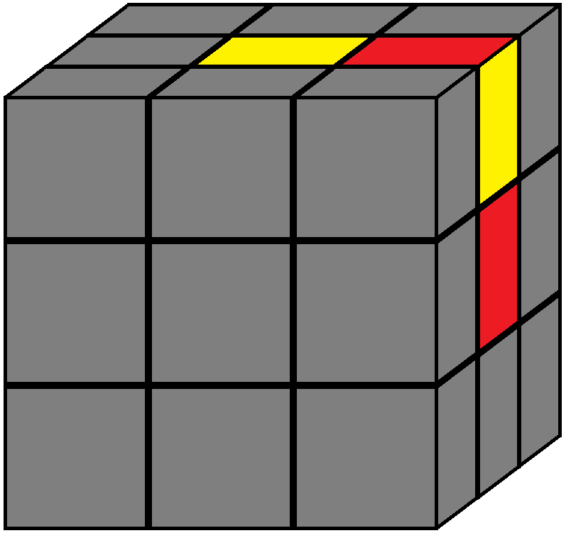 Algorithm of step 1 in how to solve the Rubik's cube