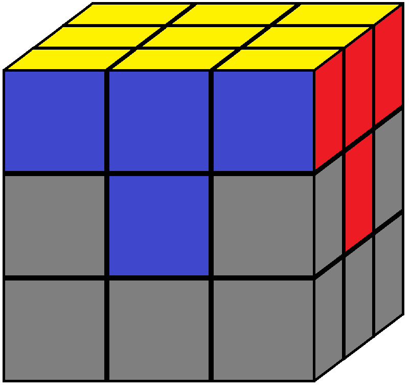 Aim of step 2 in how to solve the Rubik's cube