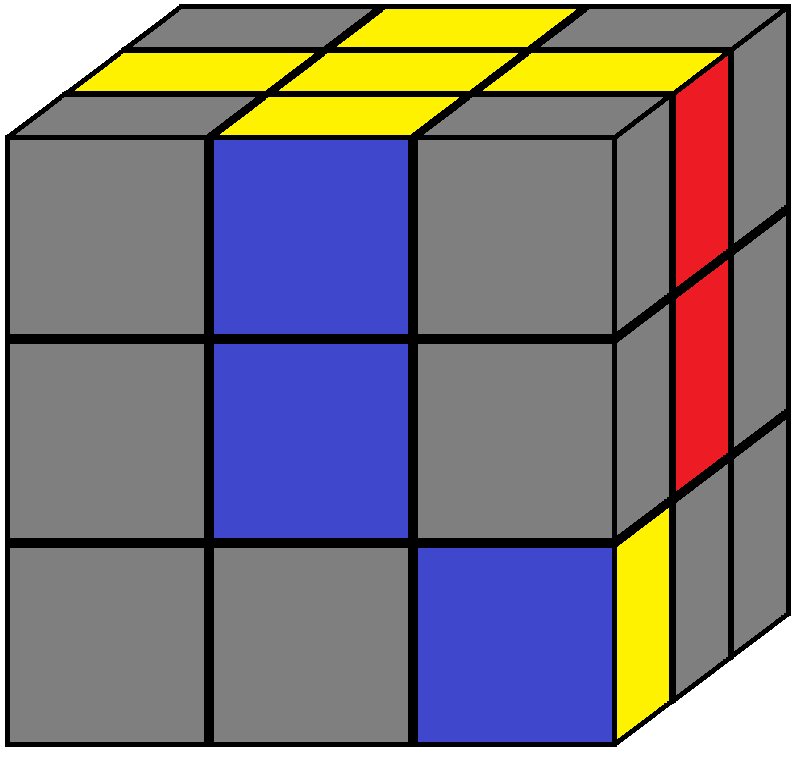 Algorithm of step 2 in how to solve the Rubik's cube
