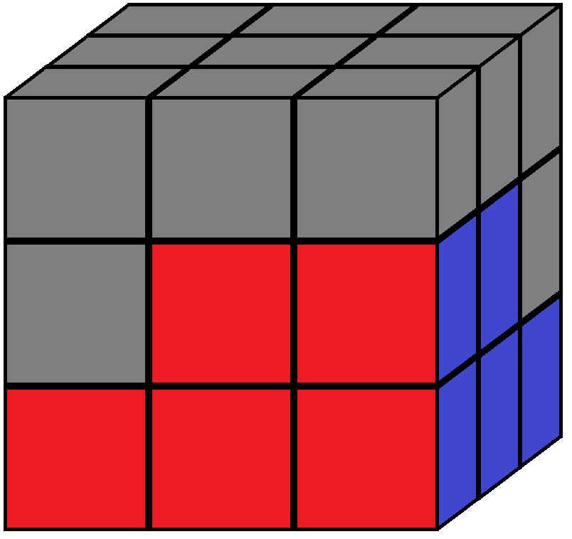 Algorithm 1/2 of step 3 in how to solve the Rubik's cube