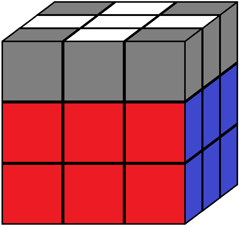 Aim of step 4 in how to solve the Rubik's cube