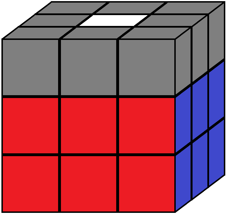 Algorithm 1 of step 4 in how to solve the Rubik's cube