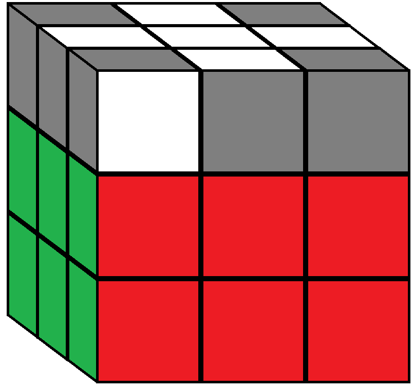 Algorithm 1 of step 5 in how to solve the Rubik's cube