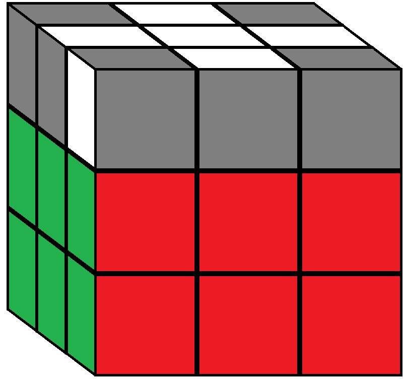 Algorithm 3 of step 5 in how to solve the Rubik's cube
