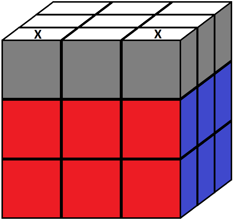 Algorithm of step 6 in how to solve the Rubik's cube